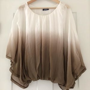 Giulia Silk Ombre Blouse from Italy